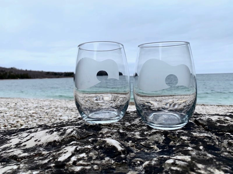 Hand-Etched Glasses