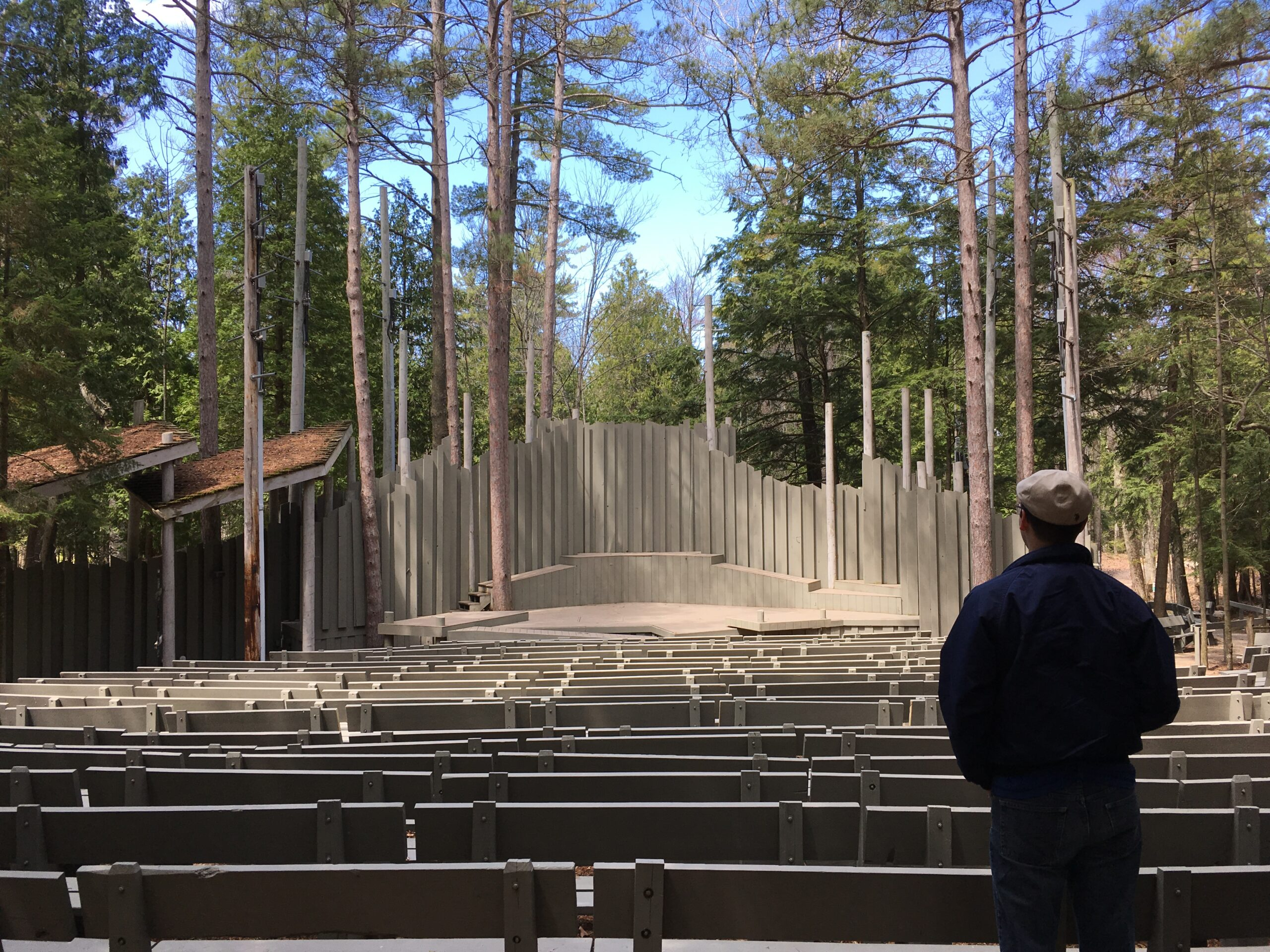 Park Amphitheater Stage in Spring